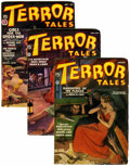 Pulps:Horror, Terror Tales Group (Popular, 1936) Condition: Average VG/FN....(Total: 3 Items)