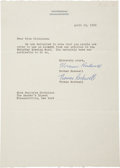 Autographs:Artists, Norman Rockwell Typed Letter Signed granting use of his article inan upcoming publication of The Reader's Digest. One p...