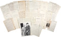 Autographs:Statesmen, Felix Frankfurter Archive of Correspondence to Arthur D. Hill,containing twenty letters dated between the early 1920s and 1...