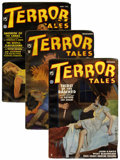 Pulps:Horror, Terror Tales Group (Popular, 1935) Condition: Average FN/VF....(Total: 4 Items)