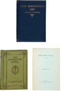 Books:First Editions, Joseph Conrad. Three Books, including: Some Reminiscences.London: Eveleigh Nash, 1912. First edition. Octavo. 236 p...(Total: 3 Items)