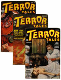 Pulps:Horror, Terror Tales Group (Popular, 1934-37) Condition: Average FN....(Total: 4 Items)