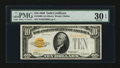 Small Size:Gold Certificates, Fr. 2400 $10 1928 Gold Certificate. PMG Very Fine 30 EPQ.. ...