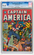 Golden Age (1938-1955):Superhero, Captain America Comics #15 (Timely, 1942) CGC NM 9.4 Off-white to white pages....