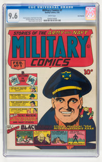 Military Comics #7 San Francisco pedigree (Quality, 1942) CGC NM+ 9.6 White pages