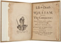 Books:Early Printing, Samuel Clarke. The Life and Death of William, Surnamed the Conqueror. King of England, and Duke of Normandy. W...