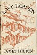 Books:First Editions, James Hilton. Lost Horizon. London: Macmillan & Co.,Ltd., 1933.. First edition. Octavo. 281 pages plus two-pa...