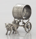Silver Holloware, American:Napkin Rings, AN AMERICAN FIGURAL SILVER PLATE NAPKIN RING. Maker unknown, circa1870. Unmarked. 2-7/8 x 3-3/4 x 2 inches (7.3 x 9.5 x 5.1...