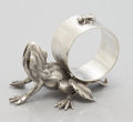 Silver Holloware, American:Napkin Rings, AN AMERICAN FIGURAL SILVER PLATE NAPKIN RING. Maker unidentified,circa 1880. Marks: O, CC (conjoined), U. 2-1/8 x 3...
