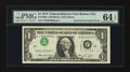 Error Notes:Inverted Third Printings, Fr. 1908-J $1 1974 Federal Reserve Note. PMG Choice Uncirculated 64EPQ.. ...