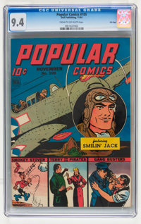 Popular Comics #105 File Copy (Dell, 1944) CGC NM 9.4 Cream to off-white pages