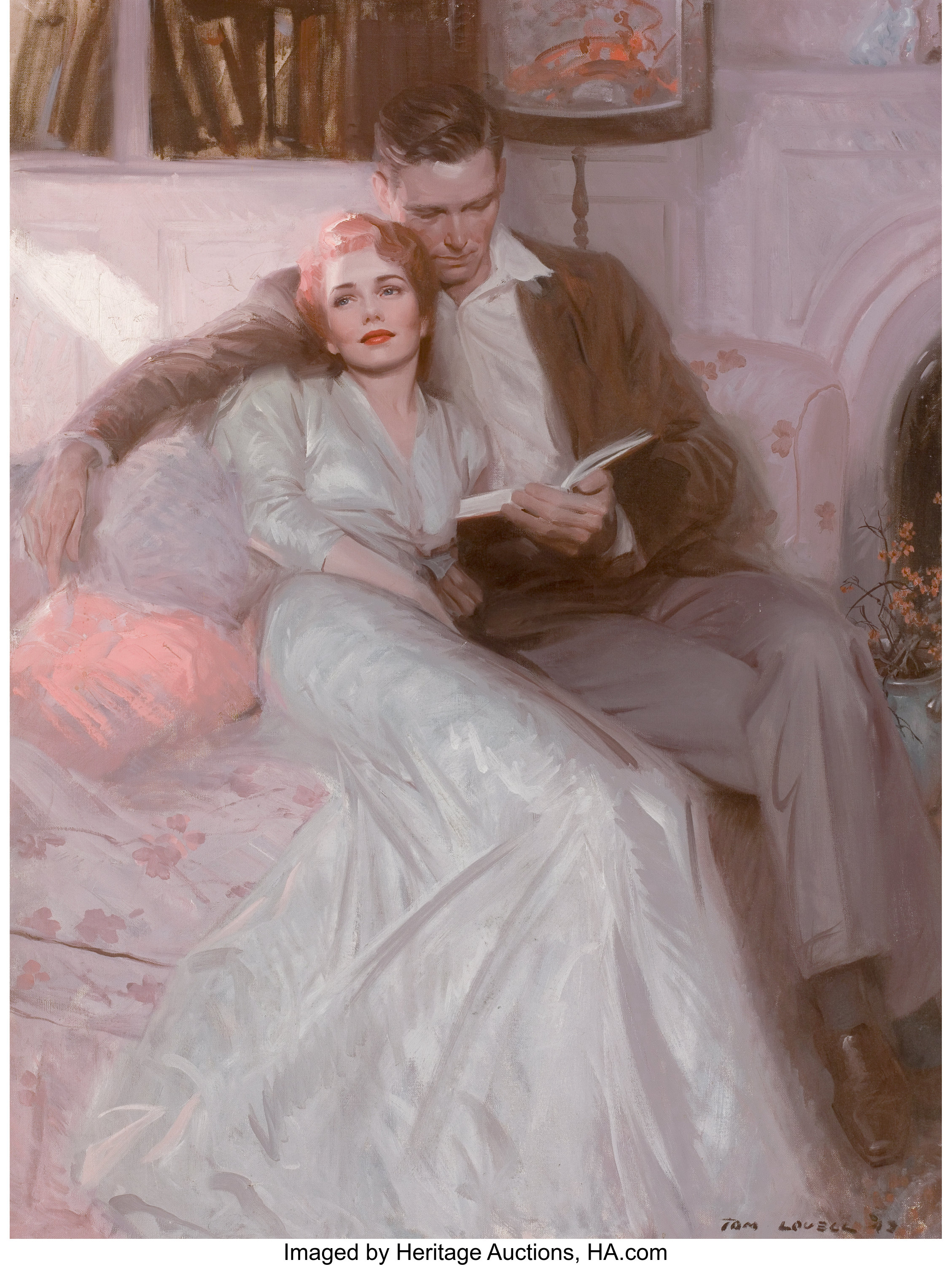 Tom Lovell American 1909 1997 Back Comes The Bride Ladies Lot 87246 Heritage Auctions