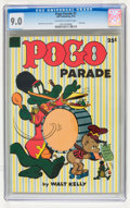 Golden Age (1938-1955):Funny Animal, Dell Giant Comics: Pogo Parade #1 (Dell, 1953) CGC VF/NM 9.0Off-white to white pages....