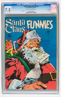 Santa Claus Funnies #2 File Copy (Dell, 1943) CGC VF- 7.5 Off-white to white pages
