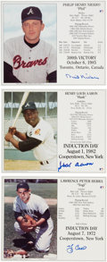 Autographs:Photos, Baseball Hall of Famers Signed Photographs.... (Total: 3 items)
