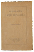 Books:Signed Editions, Joseph Conrad. Geography and Some Explorers. London:Strangeways and Sons, 1924.. First edition. Limited to thirty...