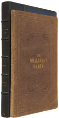 """Books:Non-fiction, G. W. Bronson. Glimpses of the Whaleman's """"Cabin."""" Boston:Damrell & Moore, 1855.. First edition. Twelvemo. 96..."""