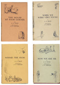 Books:First Editions, A. A. Milne. When We Were Very Young. With Decorations byErnest H. Shepard. London: Methuen & Co. Ltd.,... (Total: 4Items)