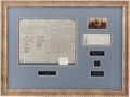 Autographs:Military Figures, Robert E. Lee Framed Display of a Period Fair Copy of his General Order No. 9 of April 10, 1865, Signed by 30 Confederate Sold...