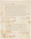 "Autographs:Military Figures, [Revolutionary War] Continental Army Loyalty Oath Document SignedTwice ""Dan Tucker""...."