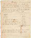 Autographs:Military Figures, [Revolutionary War] Minuteman Company 1775 Abstract of Pay Manuscript Document. ...