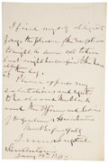 Autographs:Military Figures, James Longstreet Archive, including one autograph letter signed by the Confederate general; several other typed letters sign... (Total: 10 Items)