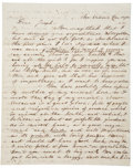 """Autographs:Military Figures, New Orleans Slavery Autograph Letter Signed. Two and one-halfpages, 8"""" x 10"""", December 15, 1858, New Orleans, reporting on ..."""
