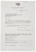 Autographs:Non-American, Abba Eban Typed Quote Signed beneath a letter from Reader's Digestremitting payment of $25 for its use in publication. One ...