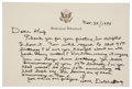 "Autographs:U.S. Presidents, Ronald Reagan Autograph Letter Signed ""Dutch &Nancy"" to""Dear Hup"", on his personal note card engrav..."