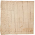 Military & Patriotic:Revolutionary War, [Revolutionary War]. Siege of Boston Manuscript Document ListingForty-nine Soldiers in Captain Luke Drury's Company. ...