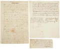 Autographs:Military Figures, [Revolutionary War] Gunpowder Manufacture and Distribution: Collection of Period Manuscripts and Newspapers. ... (Total: 5 Items)