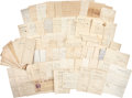 Autographs:Military Figures, [Civil War] 4th United States Cavalry Document Archive featuringthe military papers of Captain Clarence Mauck, dated 1861 t...
