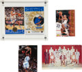Basketball Collectibles:Others, 1954-55 Syracuse Nationals Signed Postcard and Misc. Lot of 4.... (Total: 4 items)