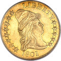 Early Eagles, 1801 $10 XF40 PCGS....