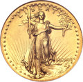 High Relief Double Eagles, 1907 $20 High Relief, Flat Rim MS63 NGC. CAC....