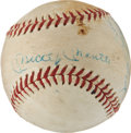 Autographs:Baseballs, Circa 1961 Mickey Mantle, Roger Maris & Whitey Ford Signed Baseball....