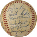 Autographs:Baseballs, 1956 Pittsburgh Pirates & Chicago Cubs Signed Baseball....