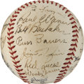 Autographs:Baseballs, 1938 Pittsburgh Pirates Team Signed Baseball with Honus Wagner....