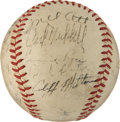 Autographs:Baseballs, 1942 New York Giants Team Signed Baseball....