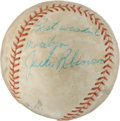 Autographs:Baseballs, Late 1950's Jackie Robinson Single Signed Baseball....