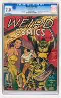 Golden Age (1938-1955):Horror, Weird Comics #1 (Fox Features Syndicate, 1940) CGC GD 2.0 Off-whitepages....