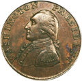 Colonials, 1793 1/2P Washington Ship Halfpenny, Copper, Lettered Edge MS61 Brown PCGS....
