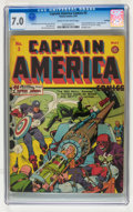 Golden Age (1938-1955):Superhero, Captain America Comics #3 Rockford pedigree (Timely, 1941) CGC FN/VF 7.0 Cream to off-white pages....