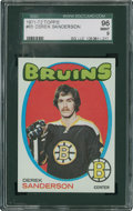 Hockey Cards:Singles (1970-Now), 1971 Topps Derek Sanderson #65 SGC 96 Mint 9....