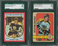 Hockey Cards:Lots, 1972-73 Topps and 1973-74 O-Pee-Chee Bobby Orr SGC Graded Lot of 2.... (Total: 2 card)