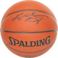 Basketball Collectibles:Balls, Kobe Bryant Signed Basketball....