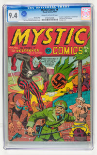 Mystic Comics #6 (Timely, 1941) CGC NM 9.4 Cream to off-white pages
