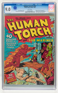 Golden Age (1938-1955):Superhero, The Human Torch #3 (#2) (Timely, 1940) CGC VF/NM 9.0 White pages....