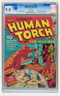 The Human Torch #3 (#2) (Timely, 1940) CGC VF/NM 9.0 White pages