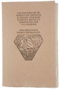Books:Fine Press & Book Arts, [Aristide Maillol, illustrator]. Longus. Les Pastorales deLongus ou Daphnis & Chloé. Version d'Amyot revue et c...